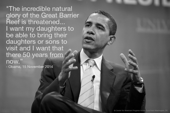 Obama G20 Barrier Reef quote